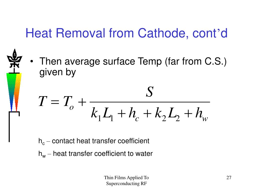 Heat Removal from Cathode, cont