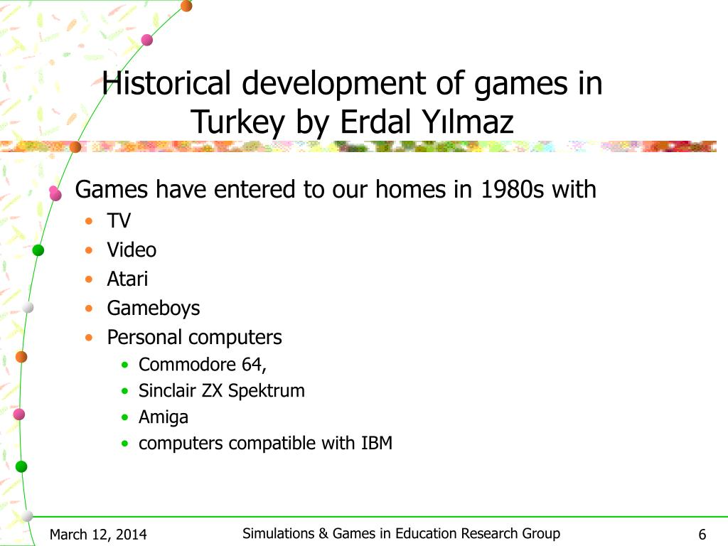 Historical development of games in Turkey