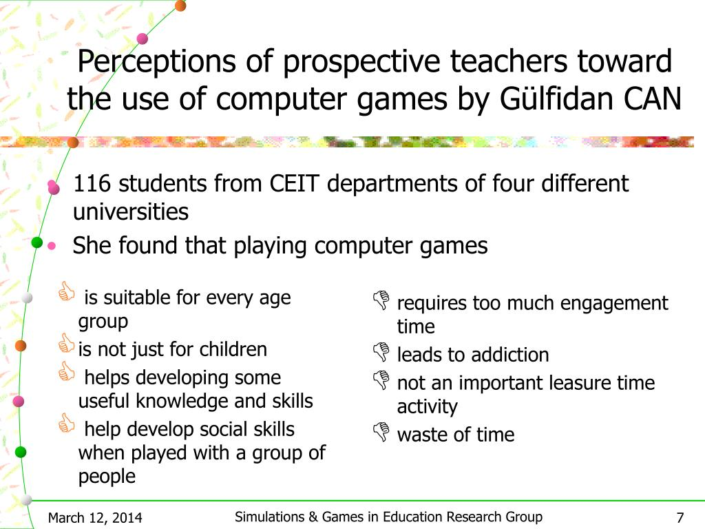 Perceptions of prospective teachers toward the use of computer games