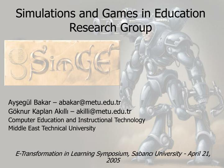 Simulations and games in education research group l.jpg