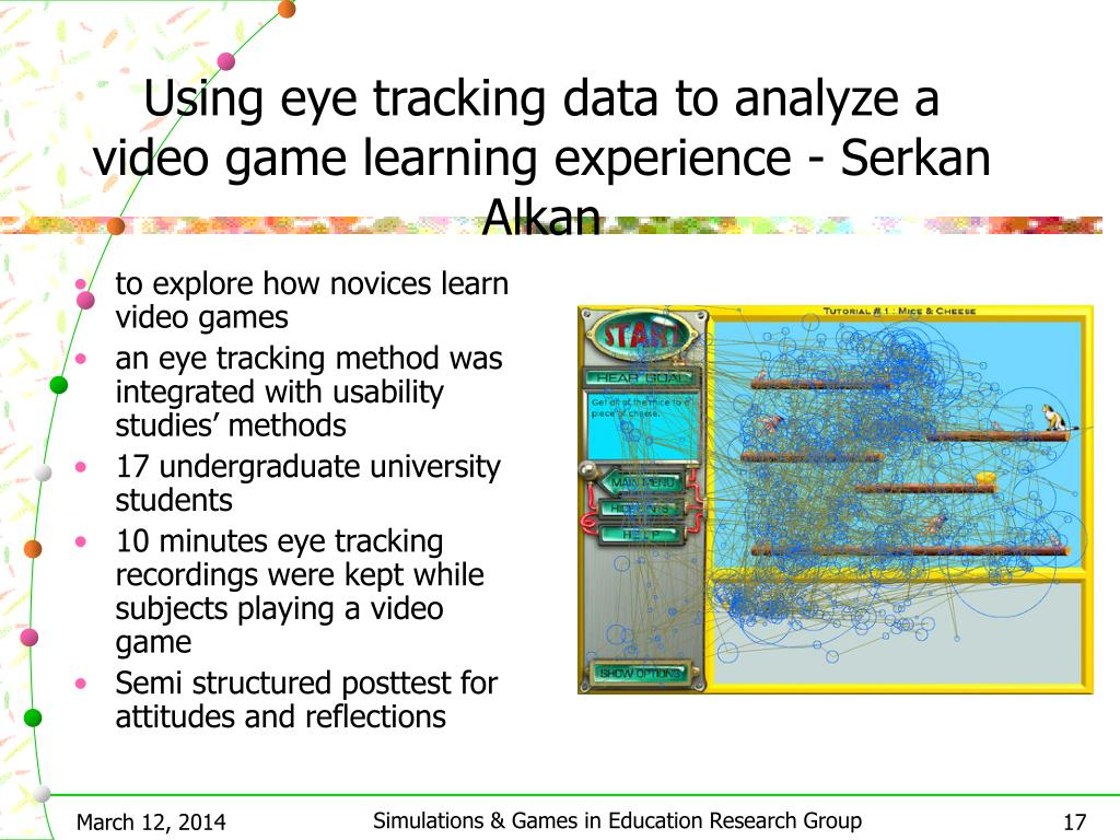 Using eye tracking data to analyze a video game learning experience - Serkan Alkan