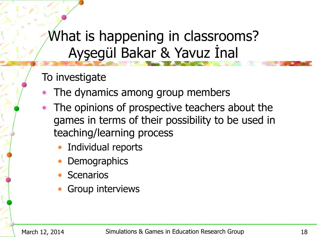 What is happening in classrooms? Ayşegül Bakar & Yavuz İnal