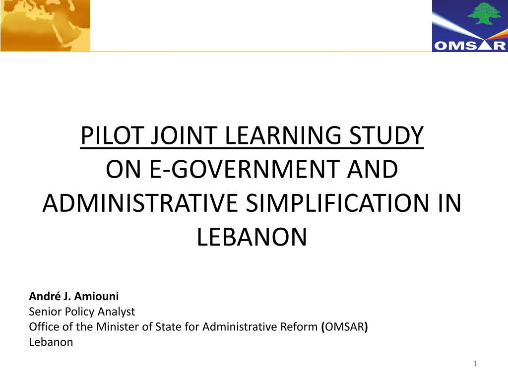 PILOT JOINT LEARNING STUDY