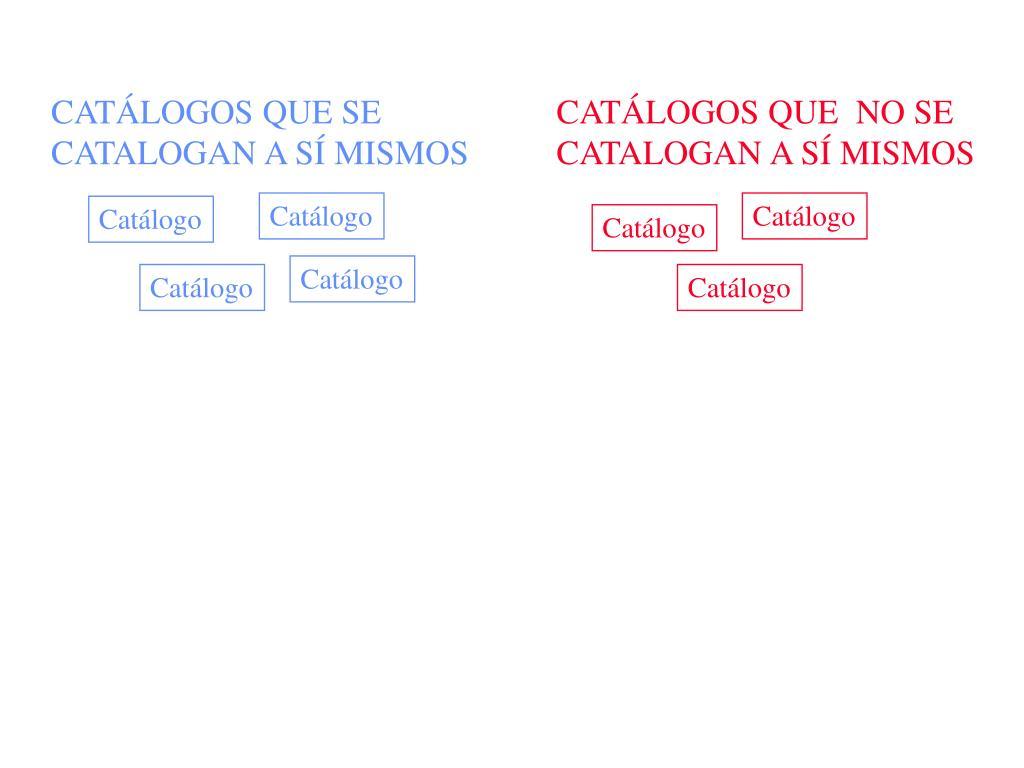 CATÁLOGOS QUE SE