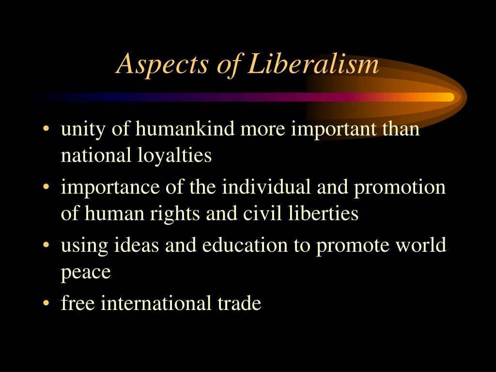 Aspects of Liberalism