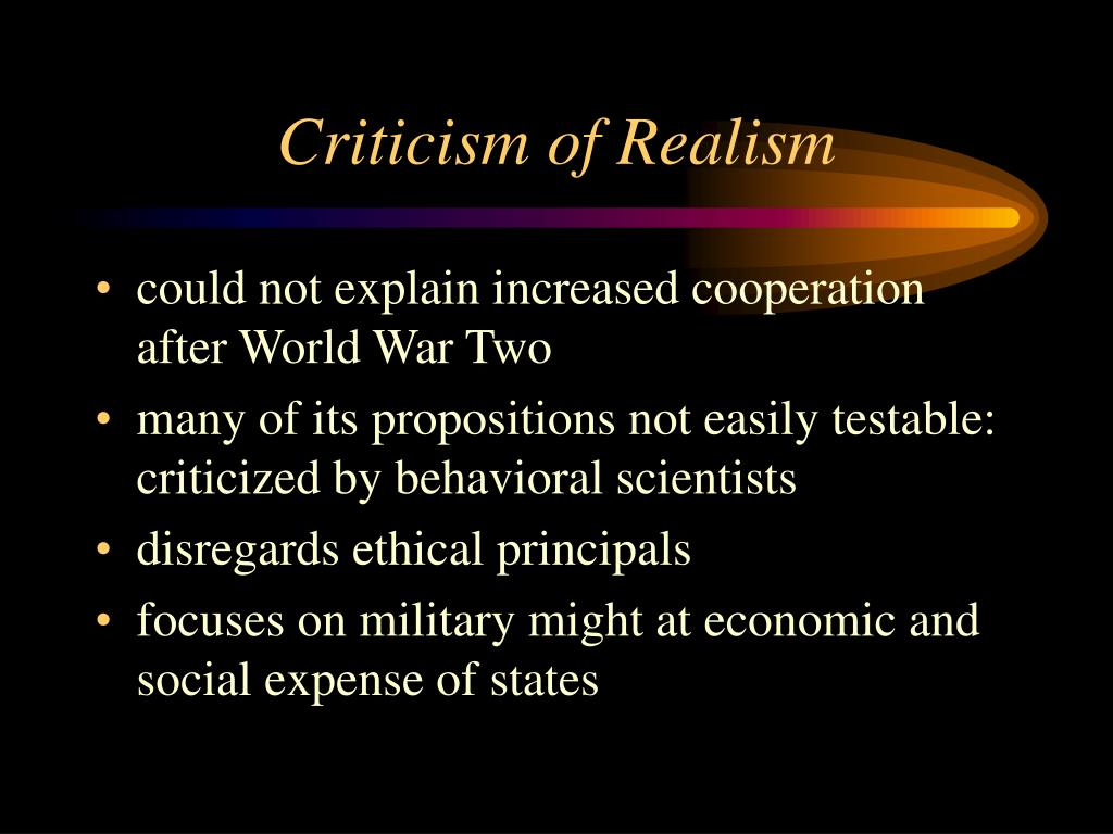 Criticism of Realism