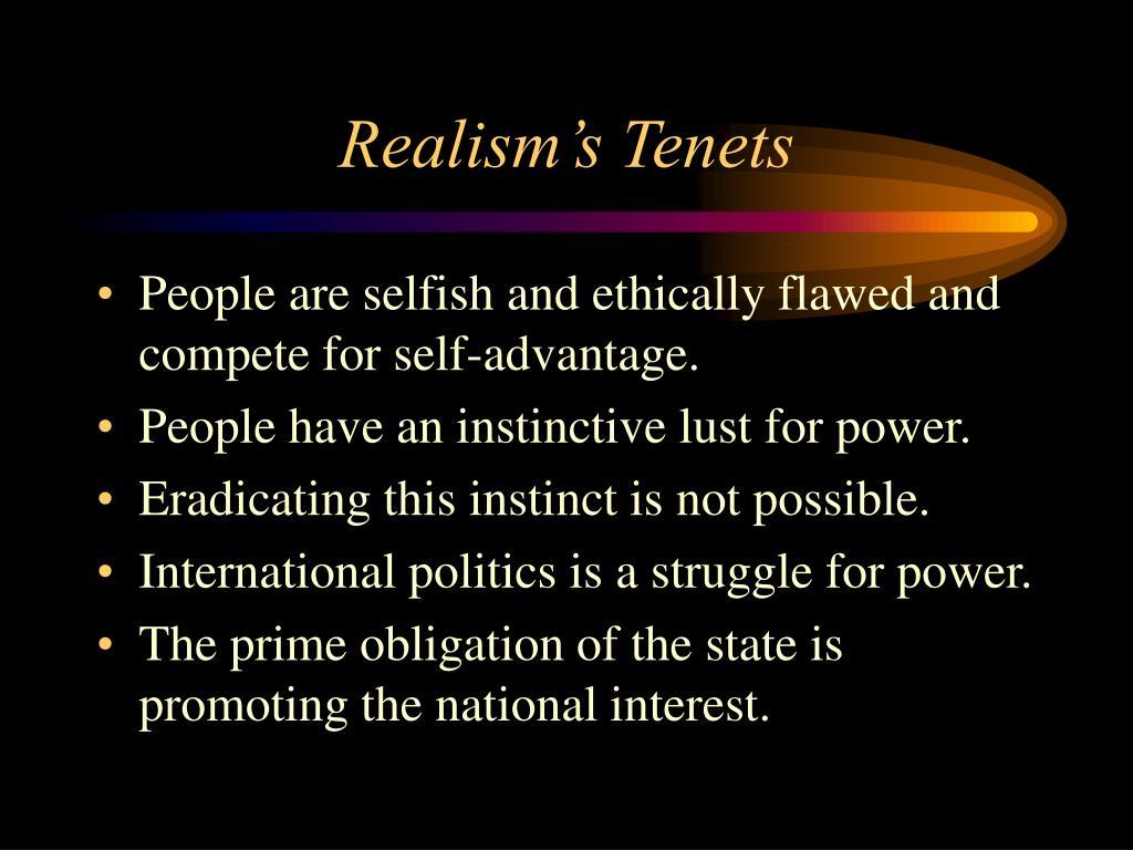 Realism's Tenets