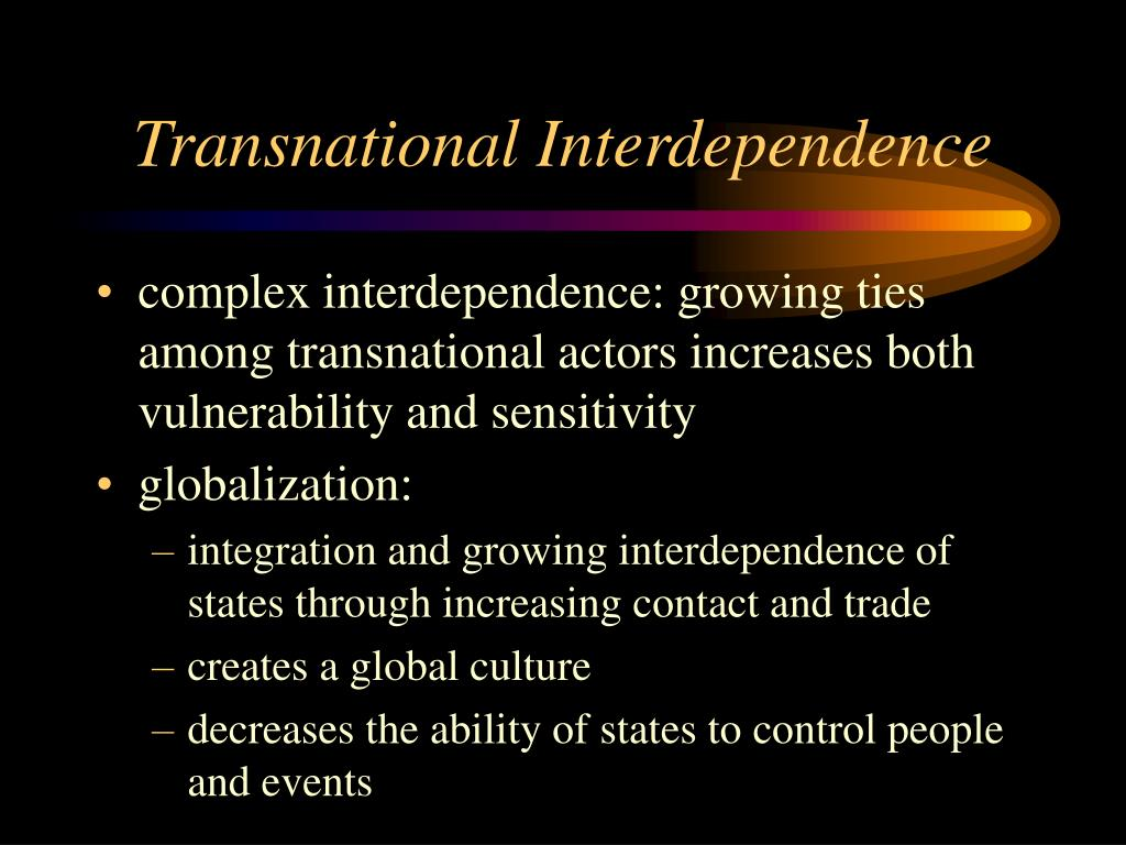 Transnational Interdependence