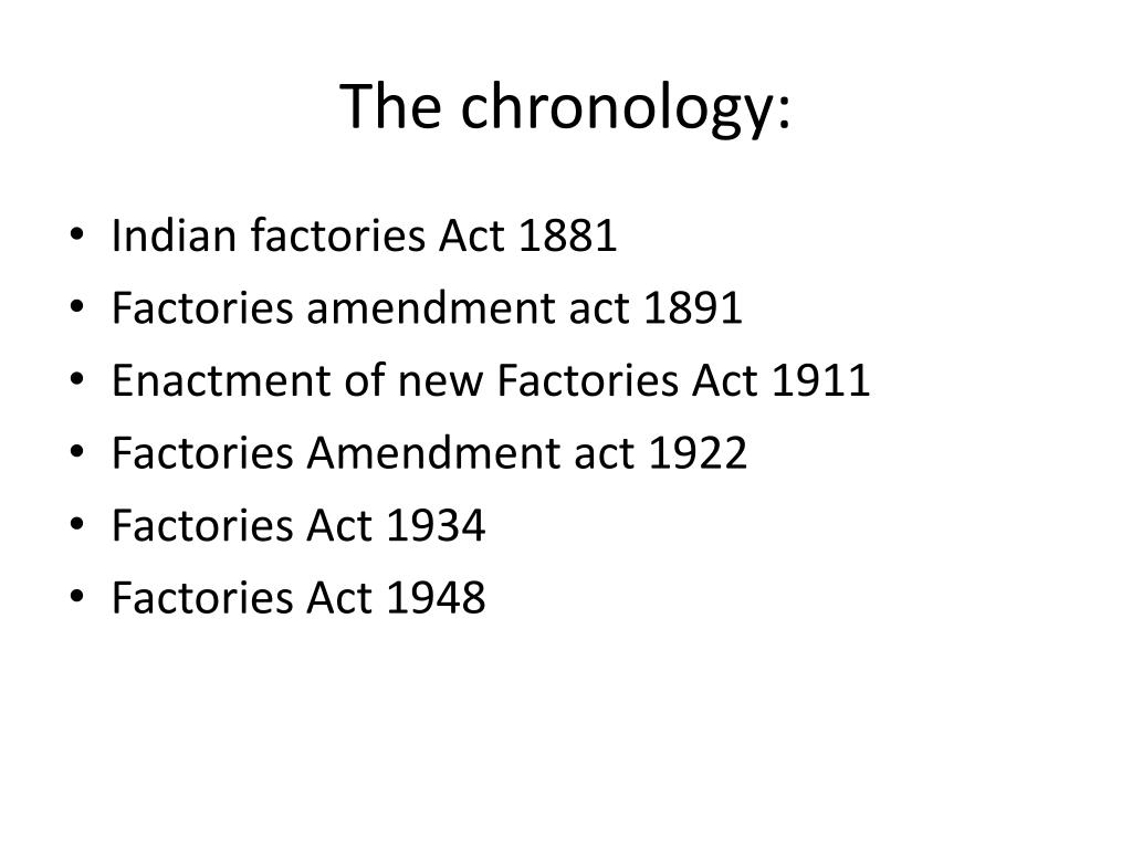The chronology:
