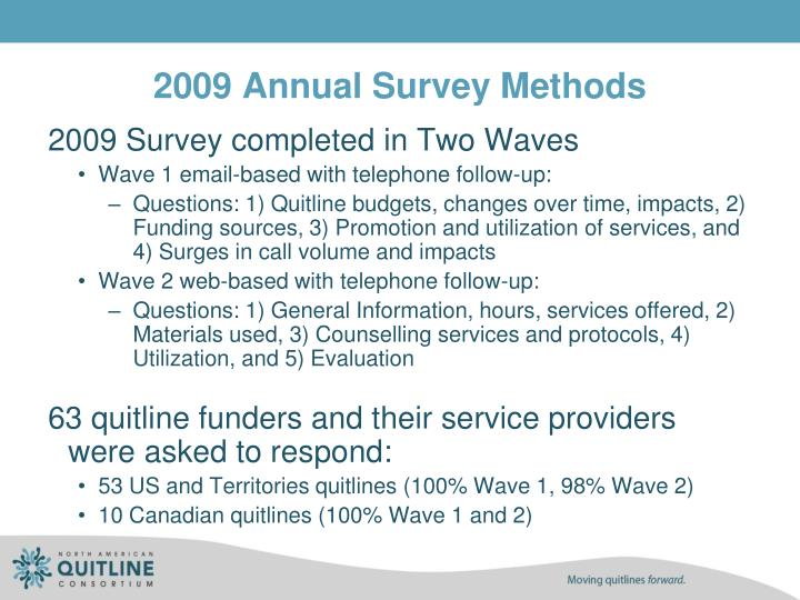 2009 annual survey methods