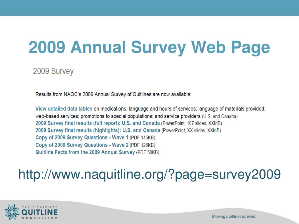 2009 Annual Survey Web Page