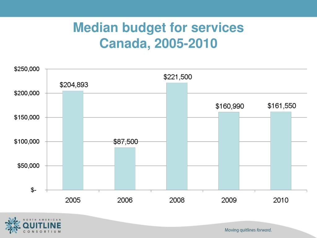 Median budget for services