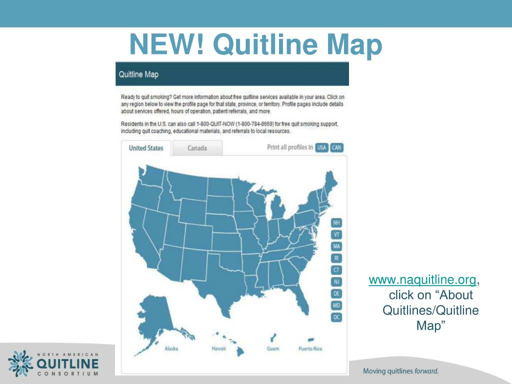 NEW! Quitline Map