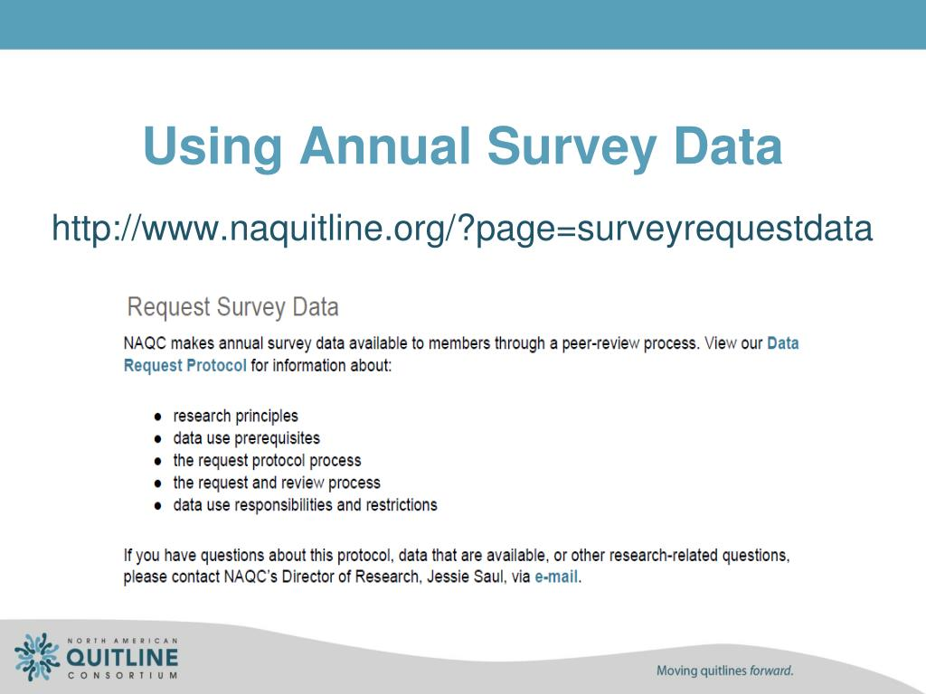 Using Annual Survey Data