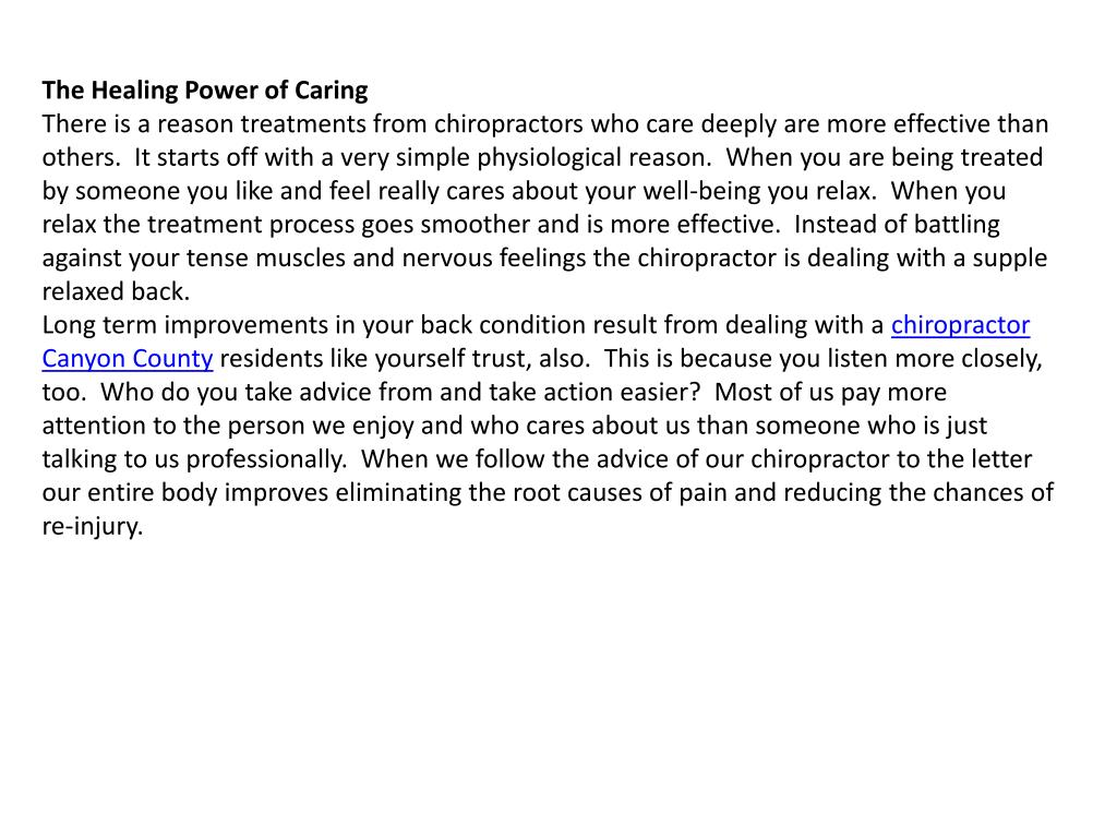 The Healing Power of Caring