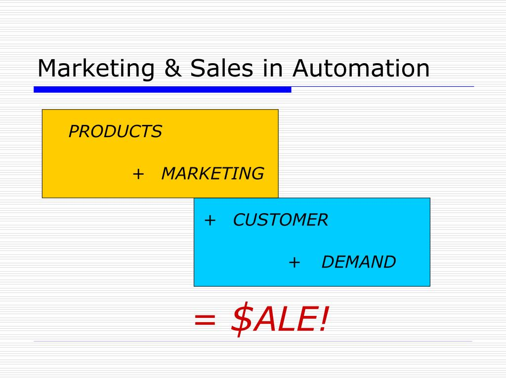 Marketing & Sales in Automation
