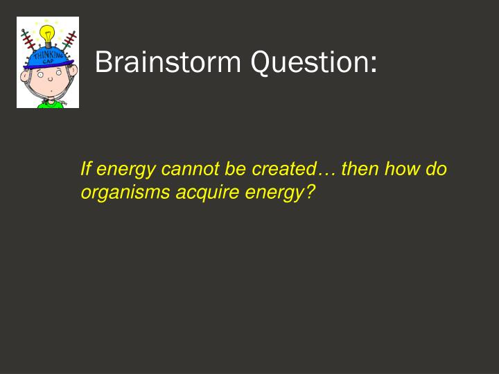 Brainstorm question