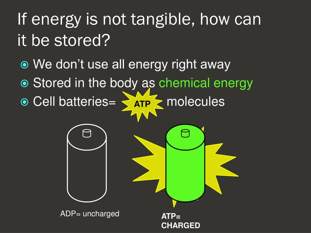 If energy is not tangible, how can it be stored?