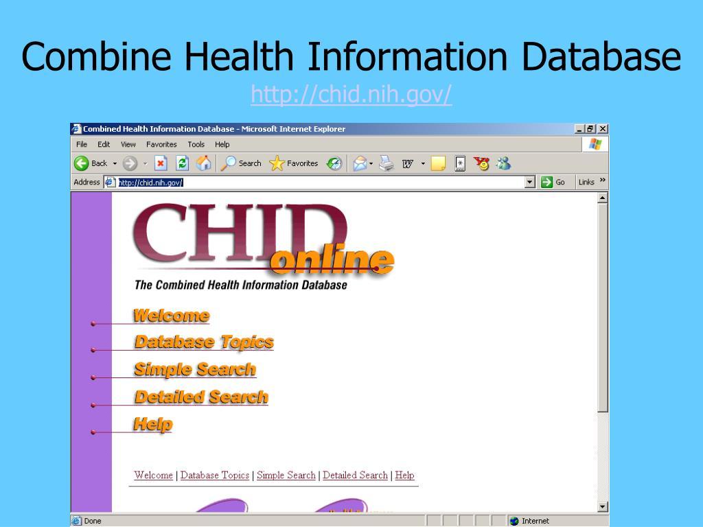 Combine Health Information Database
