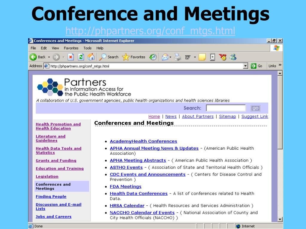 Conference and Meetings