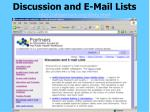 discussion and e mail lists http phpartners org dlists html