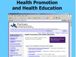 health promotion and health education http phpartners org hpro html