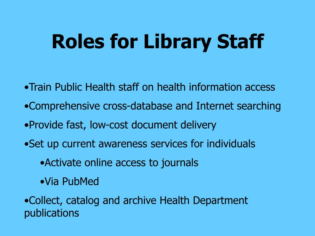 Roles for Library Staff
