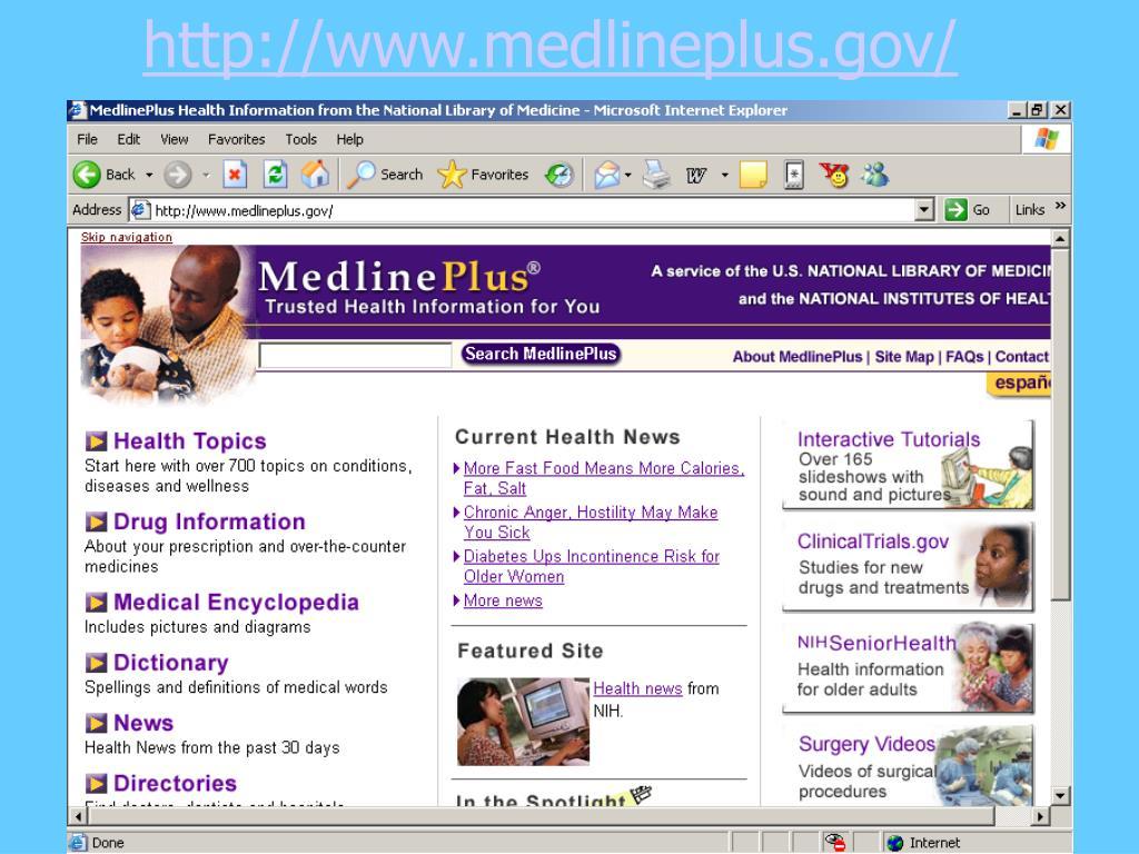http://www.medlineplus.gov/