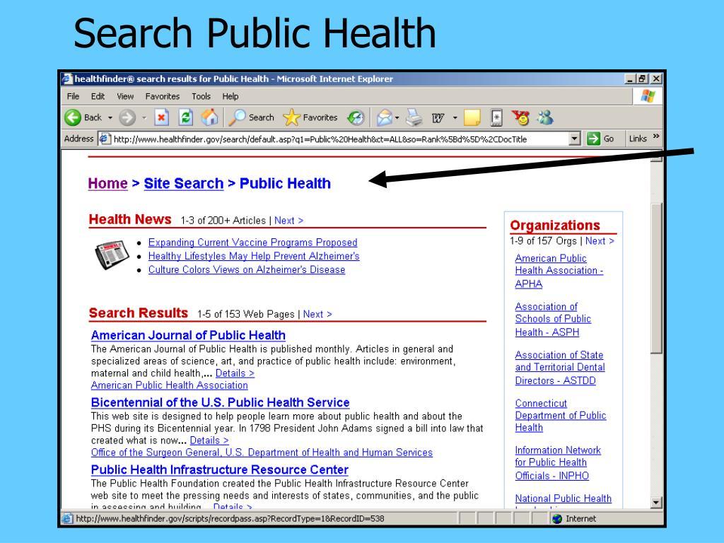 Search Public Health