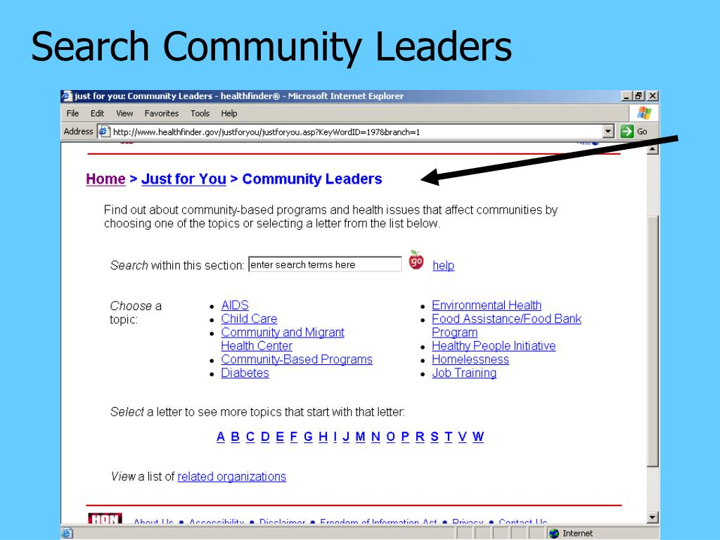 Search Community Leaders