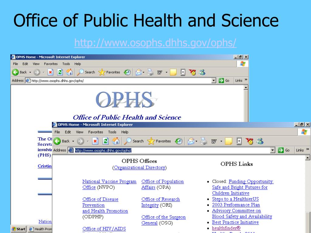 Office of Public Health and Science