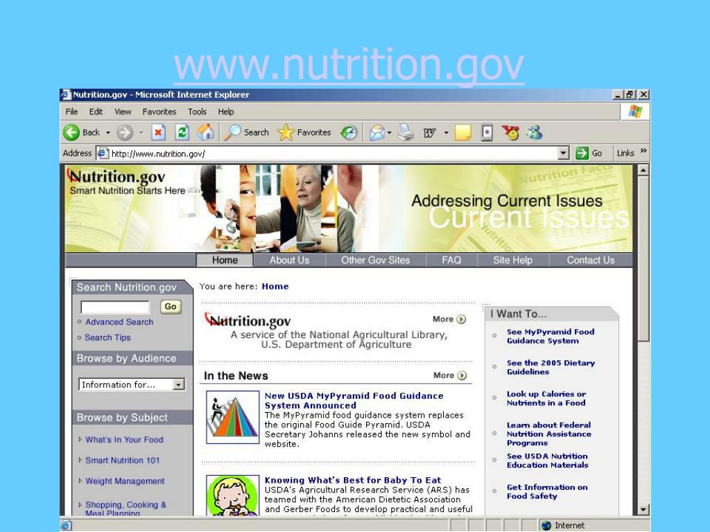 www.nutrition.gov