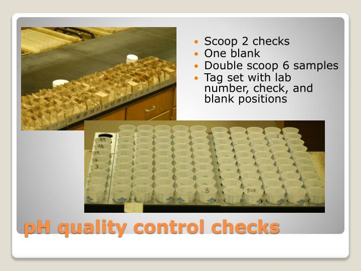 Ph quality control checks
