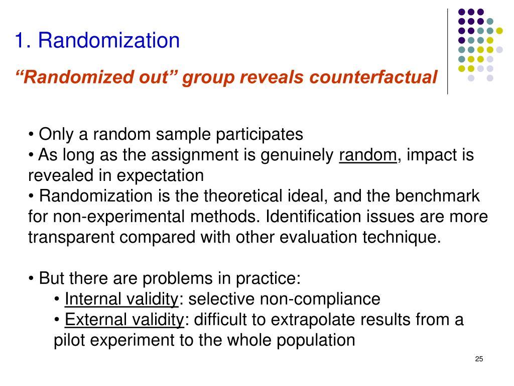 1. Randomization