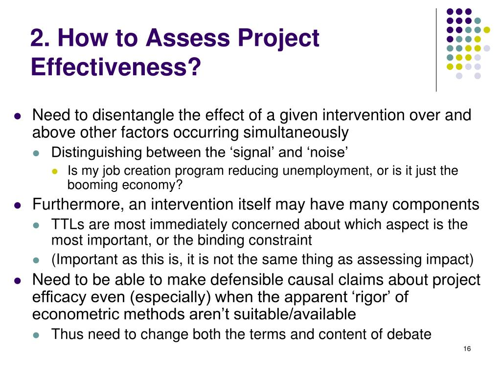 2. How to Assess Project Effectiveness?