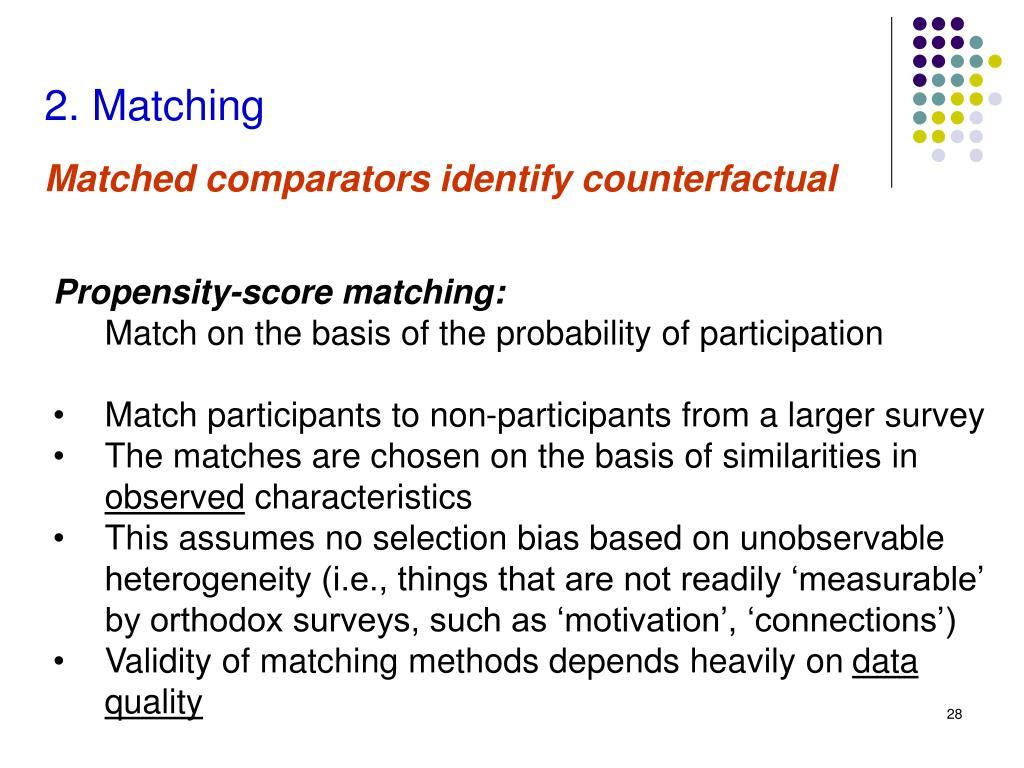 2. Matching