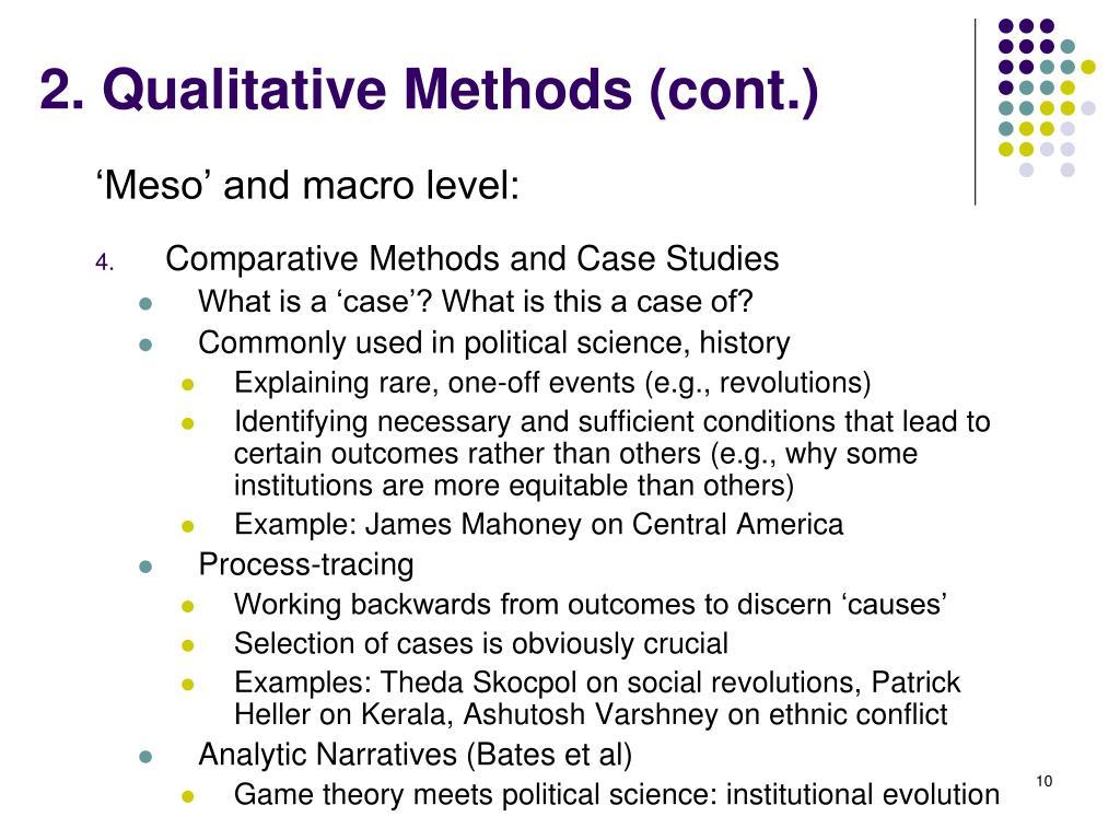 2. Qualitative Methods (cont.)