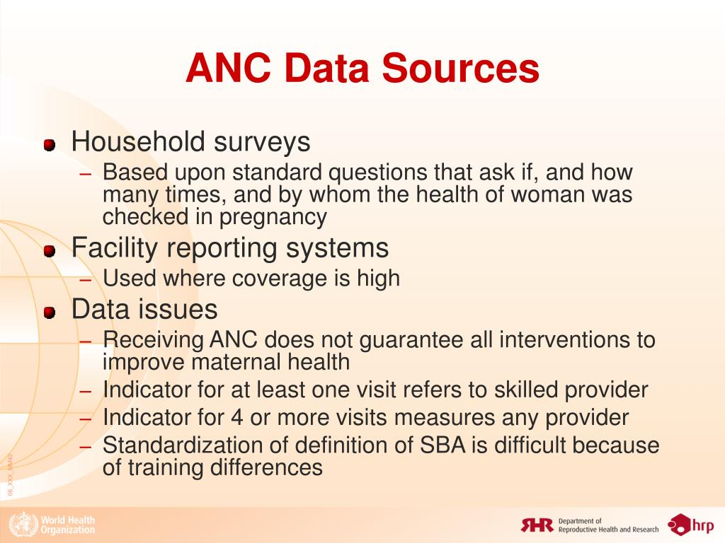 ANC Data Sources