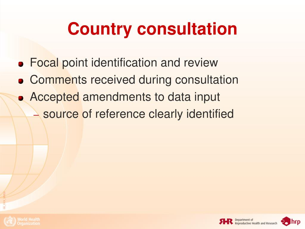 Country consultation