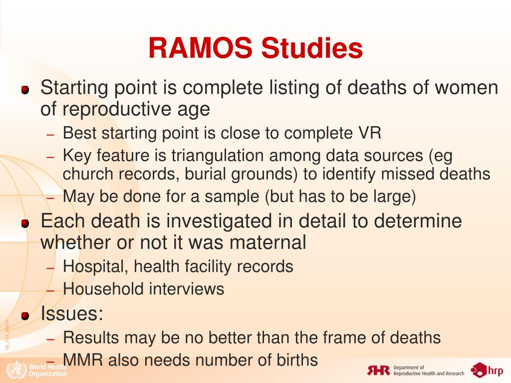 RAMOS Studies