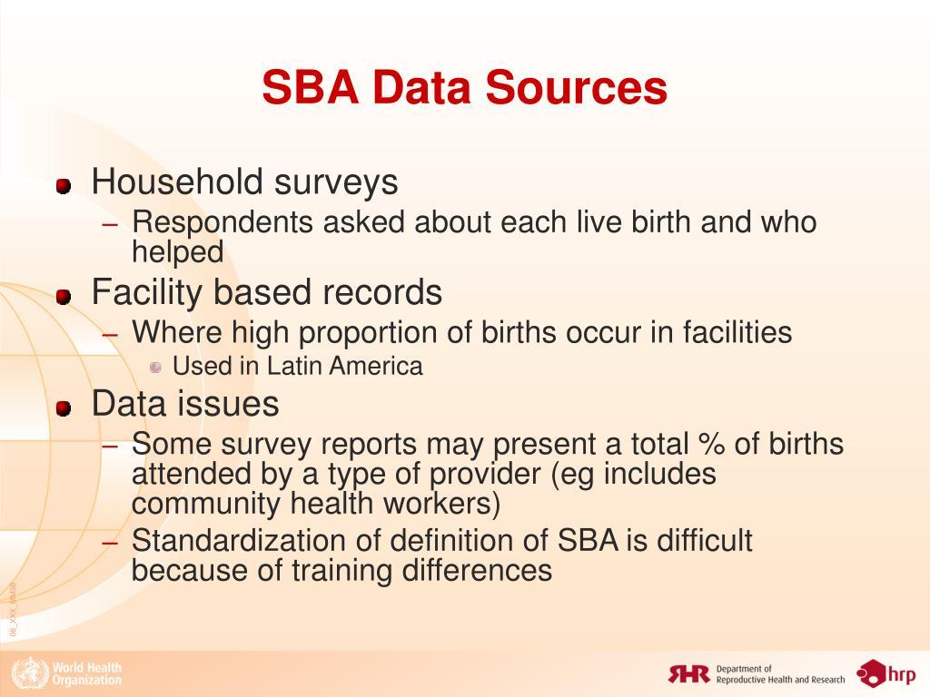 SBA Data Sources