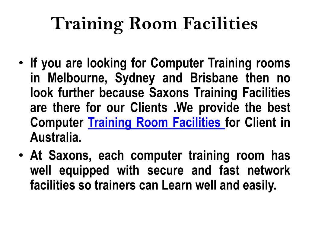 Training Room Facilities