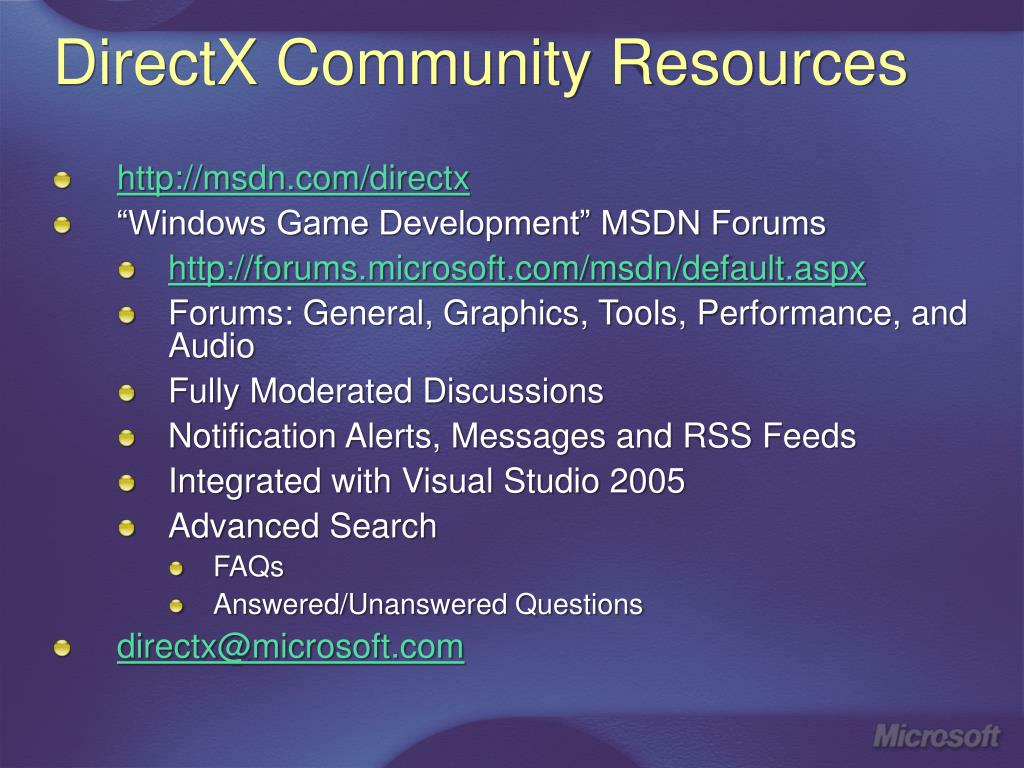DirectX Community Resources