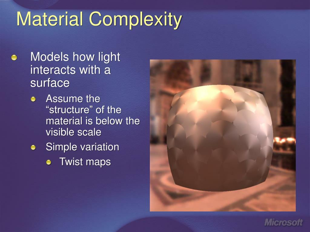 Material Complexity