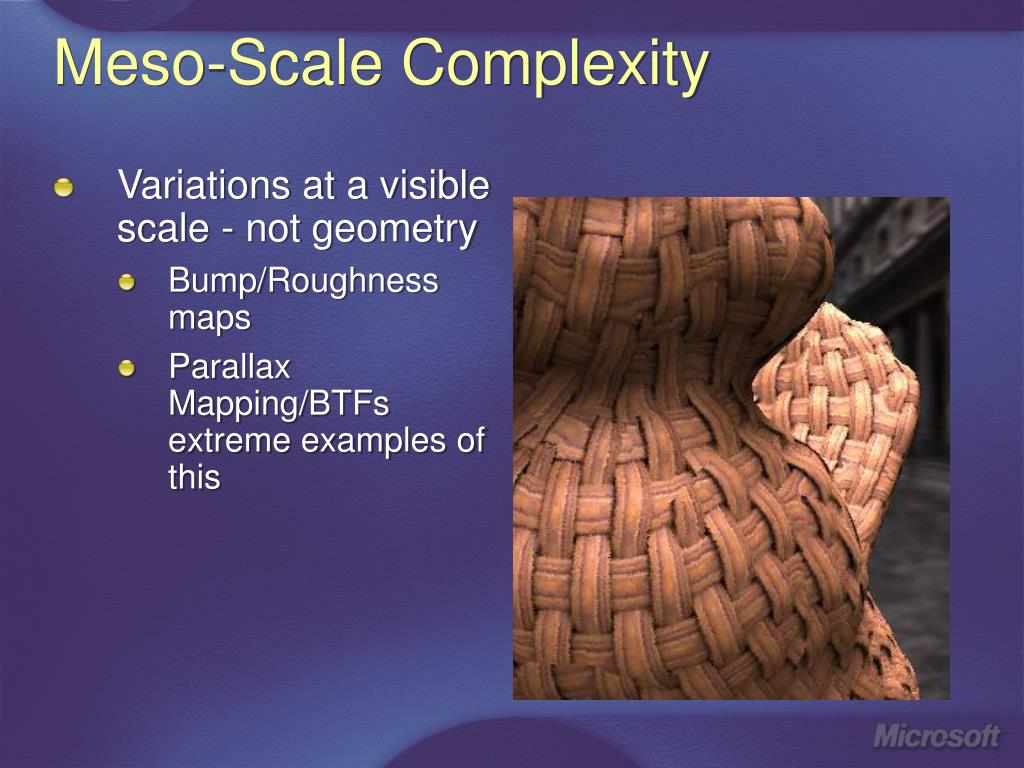 Meso-Scale Complexity