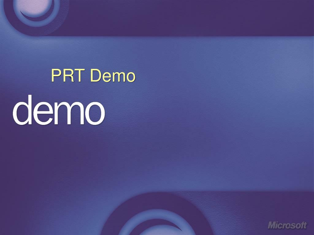 PRT Demo