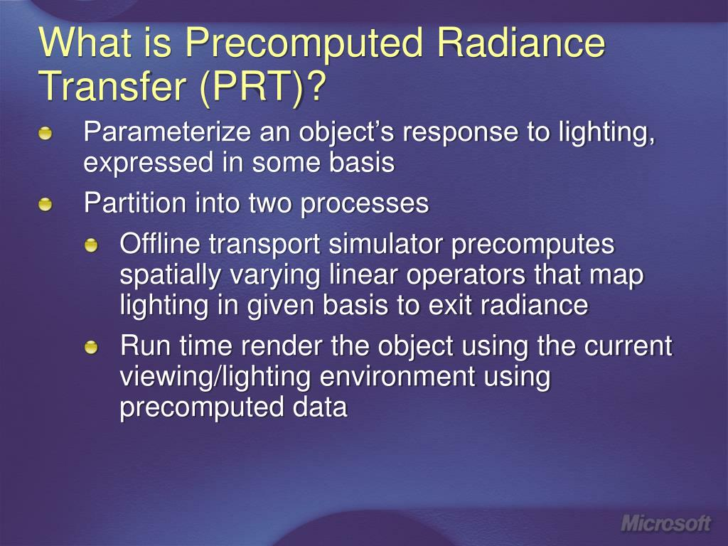 What is Precomputed Radiance Transfer (PRT)?