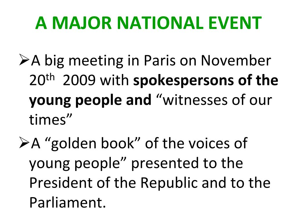 A big meeting in Paris on