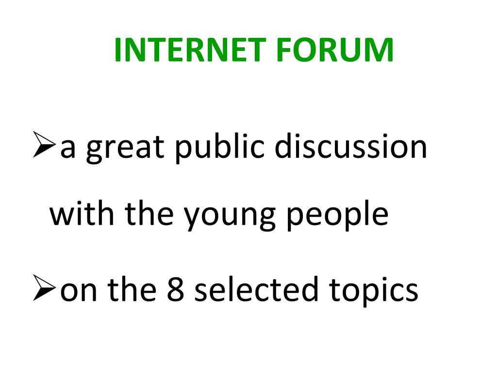a great public discussion with the young people