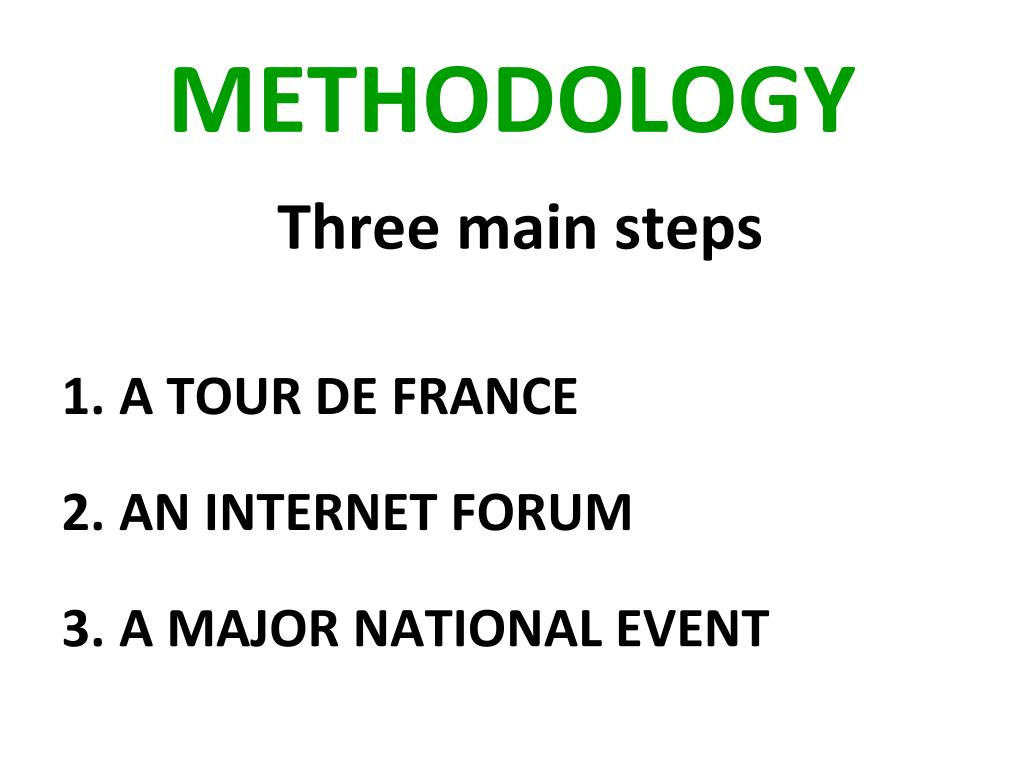 Three main steps